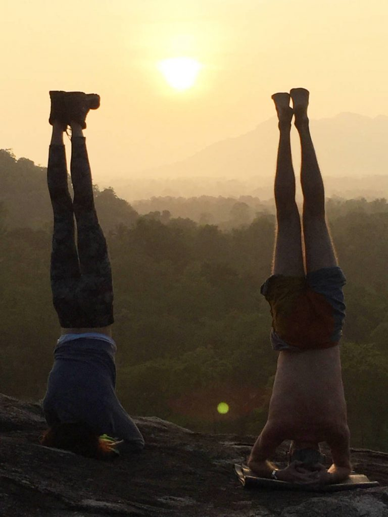Double headstand at Ulpotha Yoga retreat Sri Lanka