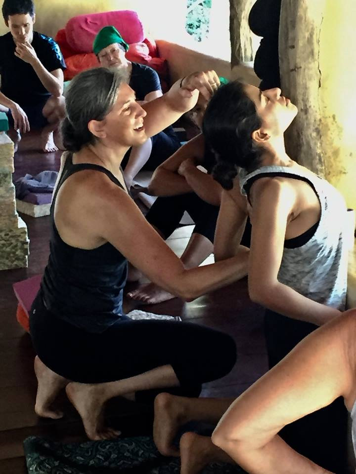 Melissa Smith teaching backbends at Ulpotha yoga retreat