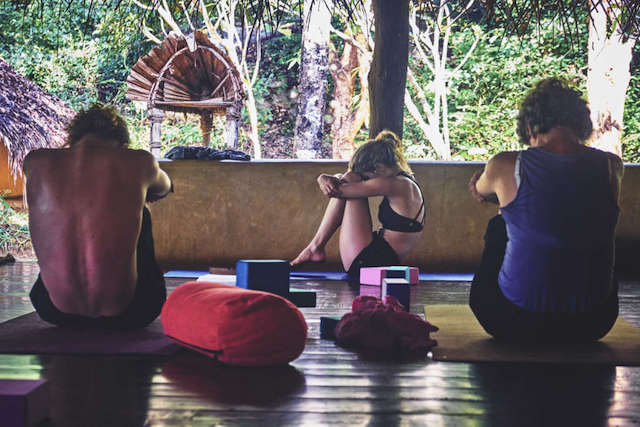 Yoga for lower back pain at Ulpotha retreat Sri Lanka